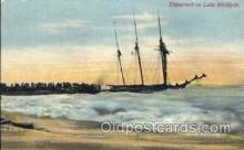 shi051015 - Shipwreck on Lake Michigan Ship Wrecks, Ships Postcard Postcards