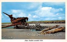 shi051025 - Peter Iredale Wrecked 1906  Ship Postcard Post Card