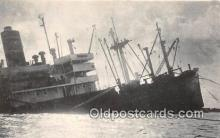 shi051038 - SS Guam Bear Stricken Freighter of Pacific Far East Lines Ship Postcard Post Card