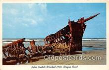 shi051040 - Peter Iredale Wrecked 1906 Oregon Coast Ship Postcard Post Card