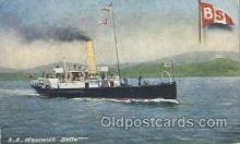 shi052015 - S.S. Woolwich Bette Ferry Boat Boats, Ship Ships Postcard Postcards