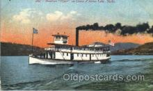 shi052020 - Streamer Flyer on Coeur d'Alene Lake, Idaho,USA Ferry Boat Boats, Ship Ships Postcard Postcards