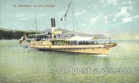 shi052022 - Le Montreux au port d'Ouchy Ferry Boat Boats, Ship Ships Postcard Postcards