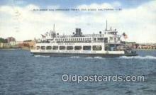 shi052031 - San Diego And Coronado Ferry, San Diego, California, CA USA Ferry Ship Postcard Post Card