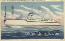 shi052032 - The SS Princess Anne Ferry Boat, Cape Charles, Virginia, VA USA Ferry Ship Postcard Post Card