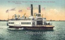 shi052033 - Ferry Steamer Ramona, San Diego, California, CA USA Ferry Ship Postcard Post Card