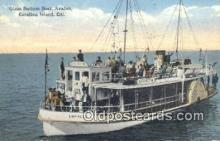 shi052039 - Glass Bottom Boat, Avalon Catalina Island, California, CA USA Ferry Ship Postcard Post Card