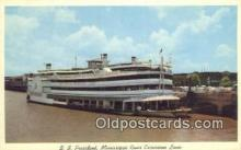 shi052049 - SS President, Mississippi River Excursion Liner, Mississippi, MS USA Ferry Ship Postcard Post Card
