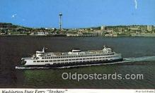 shi052051 - Washington State Ferry, Spokane, Washington, WA USA Ferry Ship Postcard Post Card