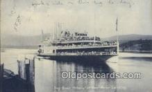 shi052063 - Day Boat, Albany, At West Point Landing Ferry Ship Postcard Post Card