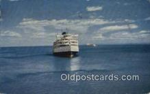 shi052079 - Passing Ships, Saguenay Trip Ferry Ship Postcard Post Card