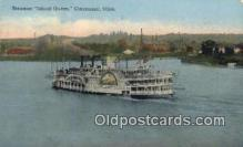 shi052084 - Steamer Island Queen, Cincinnati, Ohio, OH USA Ferry Ship Postcard Post Card