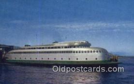 shi052096 - Washington State Ferry , Kalakala Passenger Ferry, Washington, WA USA Ferry Ship Postcard Post Card