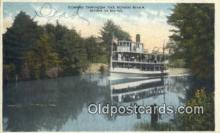 shi052102 - Coming Through The Songo River, Maine, ME USA Ferry Ship Postcard Post Card