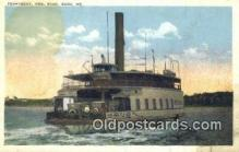 shi052105 - Ferryboat Governor King, Bath, Maine, ME USA Ferry Ship Postcard Post Card