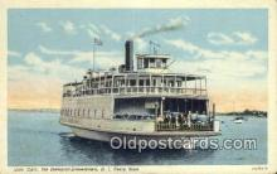shi052110 - Governor Car Ferry, Jamestown, Rhode Island, RI USA Ferry Ship Postcard Post Card