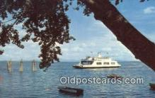 shi052122 - Adirondack Ferry, New York, NY USA Ferry Ship Postcard Post Card