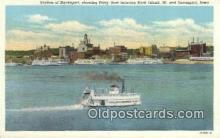 shi052125 - Ferry, Rock Island Ferry Ship Postcard Post Card