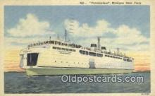 shi052127 - The Vacationland, Michigan, MI USA Ferry Ship Postcard Post Card