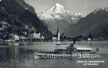 shi052131 - Fluelen Am Vierwaldstattersee Ferry Ship Postcard Post Card
