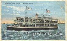shi052132 - Excursion Boat, Galvez, Galveston, Texas, TX USA Ferry Ship Postcard Post Card