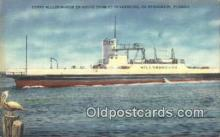 shi052133 - Ferry Hillsborough, St Petersburg, Florida, FL USA Ferry Ship Postcard Post Card