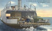 shi052134 - The Manatee At Bee Line Ferry, Pinellas Point, St Petersburg, Florida, FL USA Ferry Ship Postcard Post Card
