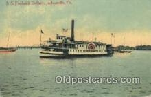 shi052136 - SS Frederick DeBary, Jacksonville, Florida, FL USA Ferry Ship Postcard Post Card