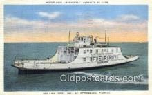 shi052137 - Motor Ship Sarasota, St Petersburg, Florida, FL USA Ferry Ship Postcard Post Card