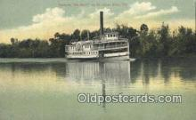 shi052138 - Steamer De Barry, St Johns River, Florida, FL USA Ferry Ship Postcard Post Card
