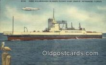 shi052140 - Ferry Hillsborough, St Petersburg, Florida, FL USA Ferry Ship Postcard Post Card