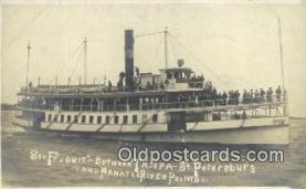 shi052141 - Real Photo - Str. Favorit, St Petersburg, Florida, FL USA Ferry Ship Postcard Post Card