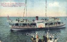 shi052143 - Glass Bottom Boat, Avalon Catalina Island, California, CA USA Ferry Ship Postcard Post Card