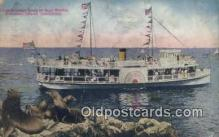 shi052144 - Glass Bottom Boat At Seal Rocks, Catalina Island, California, CA USA Ferry Ship Postcard Post Card