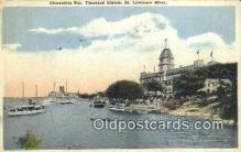 shi052146 - Alexandria Bay, Thousand Islands, St Lawrence River Ferry Ship Postcard Post Card
