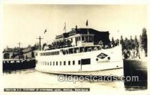 shi052151 - Real Photo - Grayline SS Sightseer At Government Locks, Seattle, Washington, WA USA Ferry Ship Postcard Post Card