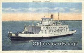 shi052154 - St Petersburg Ferry, St Petersburg, Florida, FL USA Ferry Ship Postcard Post Card