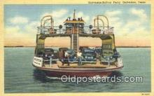 shi052156 - Galveston Ferry, Galveston, Texas, TX USA Ferry Ship Postcard Post Card