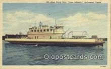 shi052157 - Ferry Boat Cone Johnson, Galveston, Texas, TX USA Ferry Ship Postcard Post Card