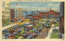 shi052163 - Commercial Place Showing Portsmouth Ferry, Norfolk, Virginia, VA USA Ferry Ship Postcard Post Card