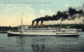 shi052164 - CPR SS Princess Victoria, Victoria Harbor, British Columbia, BC  Ferry Ship Postcard Post Card