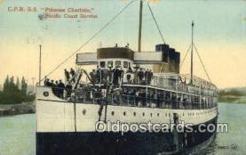 shi052167 - CPR SS Princess Charlotte  Ferry Ship Postcard Post Card