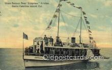 shi052176 - Glass Bottom Boat Empress, Catalina, Island, California, CA USA Ferry Ship Postcard Post Card