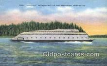 shi052180 - Ferry Kalakala, Bremerton, Washington, WA USA Ferry Ship Postcard Post Card