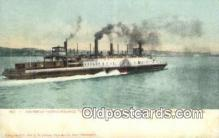 shi052181 - Southern Pacific Steamer Solano, San Francisco Bay, California, CA USA Ferry Ship Postcard Post Card