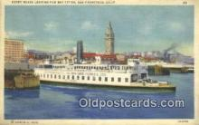 shi052183 - Ferry Boats, San Francisco, California, CA USA Ferry Ship Postcard Post Card