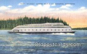 shi052192 - Ferry Kalakala, Bremerton, Washington, WA USA Ferry Ship Postcard Post Card