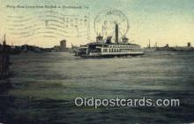 shi052204 - Ferry Boat, Portsmouth, Virginia, VA USA Ferry Ship Postcard Post Card