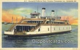 shi052207 - Annapolis Claiborne Ferry, Annapolis, Maryland, MD USA Ferry Ship Postcard Post Card