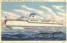 shi052208 - The SS Princess Anne Ferry Boat, Cape Charles, Virginia, VA USA Ferry Ship Postcard Post Card